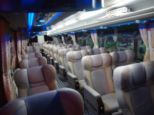 farinas super deluxe bus interior with CR